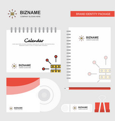 router logo calendar template cd cover diary and vector image