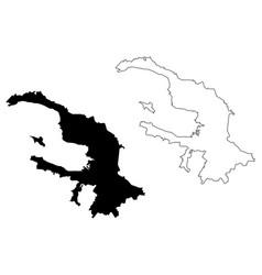 saint petersburg map vector image
