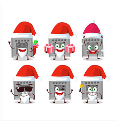 Santa claus emoticons with among us button task vector