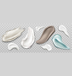 Scrub or cream smears swatch set skin care product vector