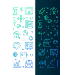 set of 2 startup creative vertical banners in thin vector image