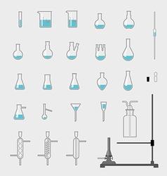 Set of chemistry glassware vector