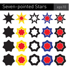seven-pointed stars vector image