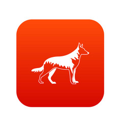 Shepherd dog icon digital red vector