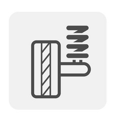 Shock absorbers icon vector