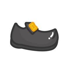 Shoe with golden buckle vector