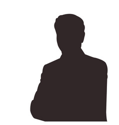 silhouette of man vector image