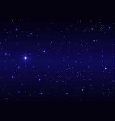 sirius big bright star dark blue starry night sky vector image