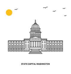 state capital washington monument world travel vector image