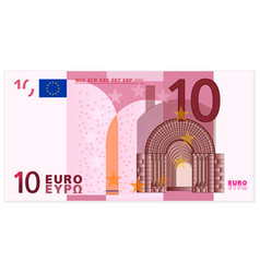 Ten euro banknote vector