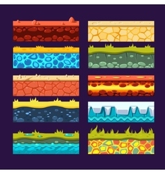 Textures for Games Platform Set of vector image