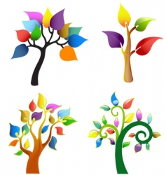 tree symbol collection vector image vector image