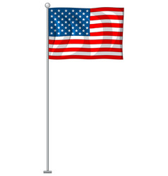 Usa flag on white background vector