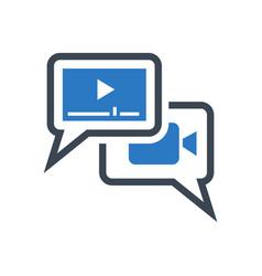 video marketing glyph icon vector image