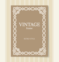 Vintage frame retro style ornamental graphic decor vector