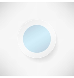 blue paper round over white Backgrounds vector image