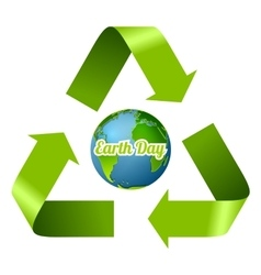 Earth Day design with recycle arrows vector image vector image