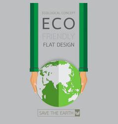 eco friendly flat design vector image