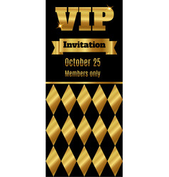 vip club party premium invitation card flyer with vector image vector image