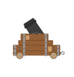 cannon war civil artillery gun icon vintage vector image vector image