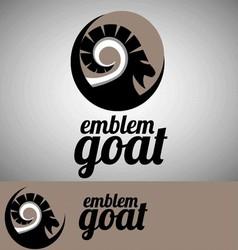 goat emblem vector image vector image