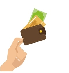 Hand holding credit or debit cards icon vector