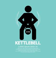 Kettlebell Fitness Exercising Sign vector image