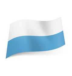 national flag of san marino white and blue vector image vector image
