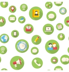 Seamless pattern with communication icons vector image vector image