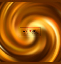 golden swirling caramel whirlpool vector image
