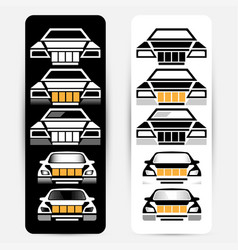 passenger car silhouettes vector image vector image