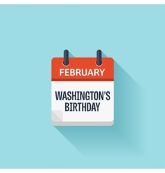Presidents Washingtons day February Event vector image