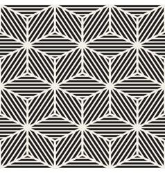 Seamless stripes cube shape lines geometric vector