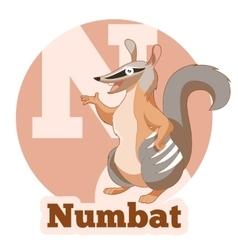 ABC Cartoon Numbat vector image