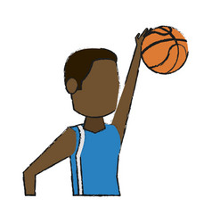basketball player design vector image