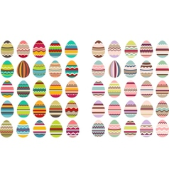 Big set with different eggs vector image