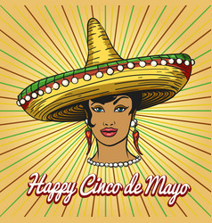 happy cinco de mayo poster vector image