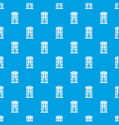 hotel building pattern seamless blue vector image vector image