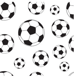 seamless pattern with football balls vector image vector image