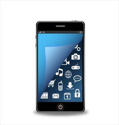 Smartphone with applications vector image vector image