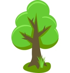 Tree With Icons Isolated On White Background vector image