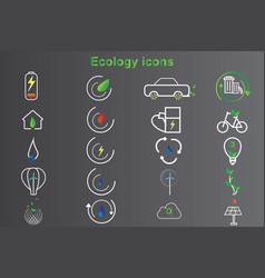 20 set ecology icon design vector