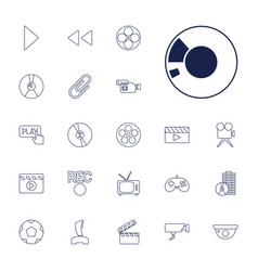 22 video icons vector