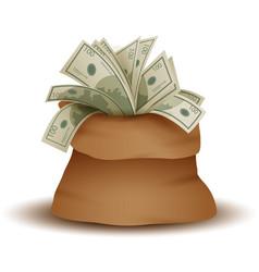 A big bag full of money vector