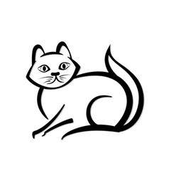 abstract icon of a cat vector image
