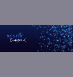 abstract magic background dark blue shine vector image
