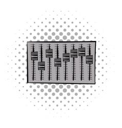 Adjustment music comics icon vector
