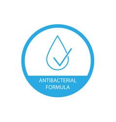 Antibacterial formula icon simple design vector
