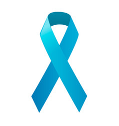 awareness blue ribbon world prostate cancer day vector image