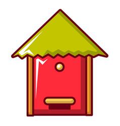 Beehive icon cartoon style vector
